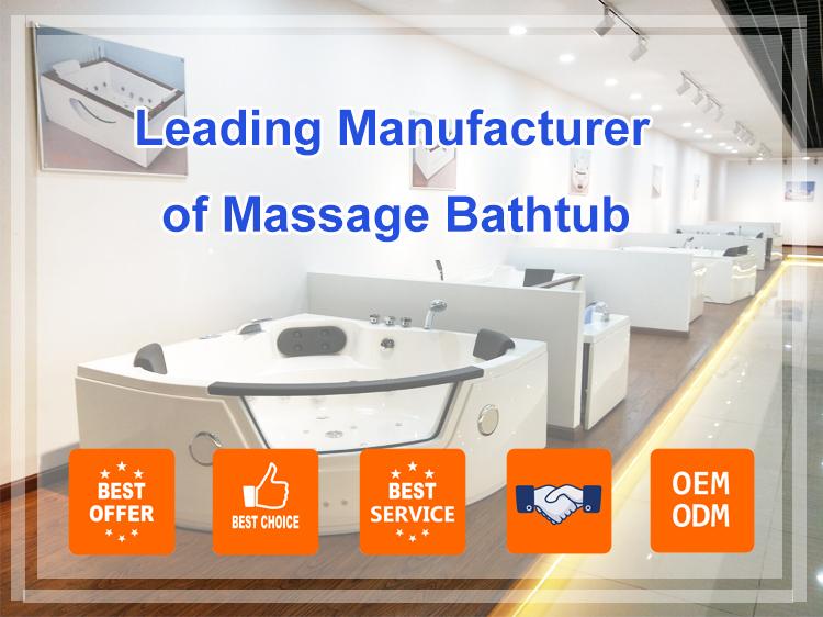 2020 Cheap Modern Design High Quality Acrylic pearl hydromassage freestanding massage bathtub with low price