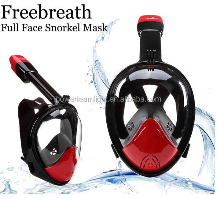 Snorkel Mask Full Face with 180 Degree Panoramic View Mount Anti Fog Anti Leak