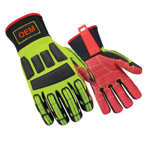Red TPR Mechanical Rope Rescue gloves for Durable made in china