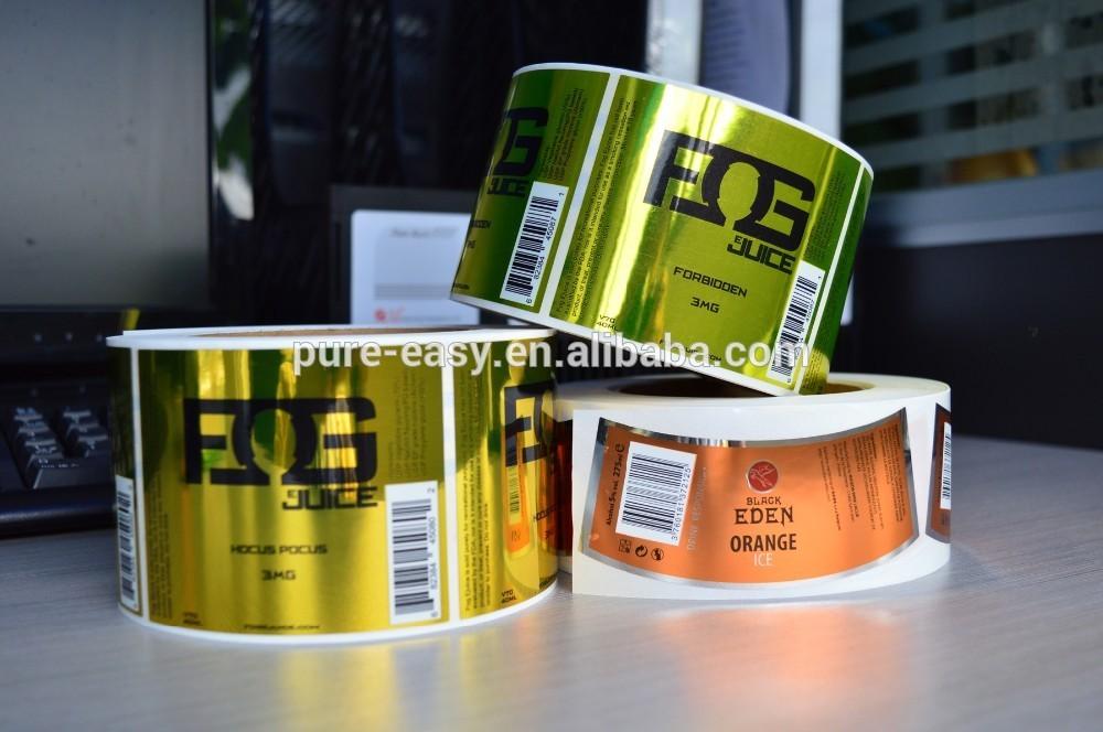 Custom Water Resistant Metallic Color Print Label