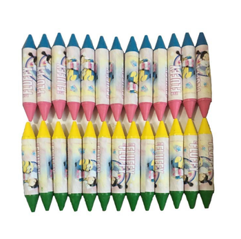 mini size double head neon crayon pen set, opp bag color box