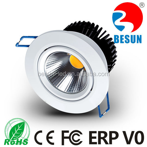 Higher cri 95ra cob gimbal led downlight 6w/7.5w warm white mini led downlight