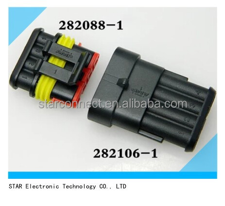 waterproof auto power electronic amp 4 pin connector automotive