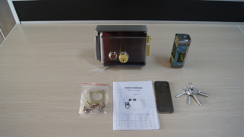 Battery Operated Electronic Door Locks 12v For Gate Door