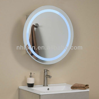 CUL Listed Hotel Round Frosted Smart LED Touch Screen Mirrorhardwire Bathroom Mirror