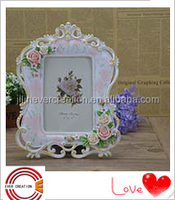 new design/style picture photo frame wedding decoration frame with flowers