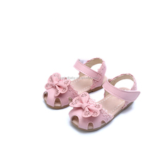 Newest designer lovely flower baby sandals size 2 girl baby sandals