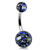 Mixed Color Splatter Acrylic Ball Belly Rings Piercing Body Jewelry
