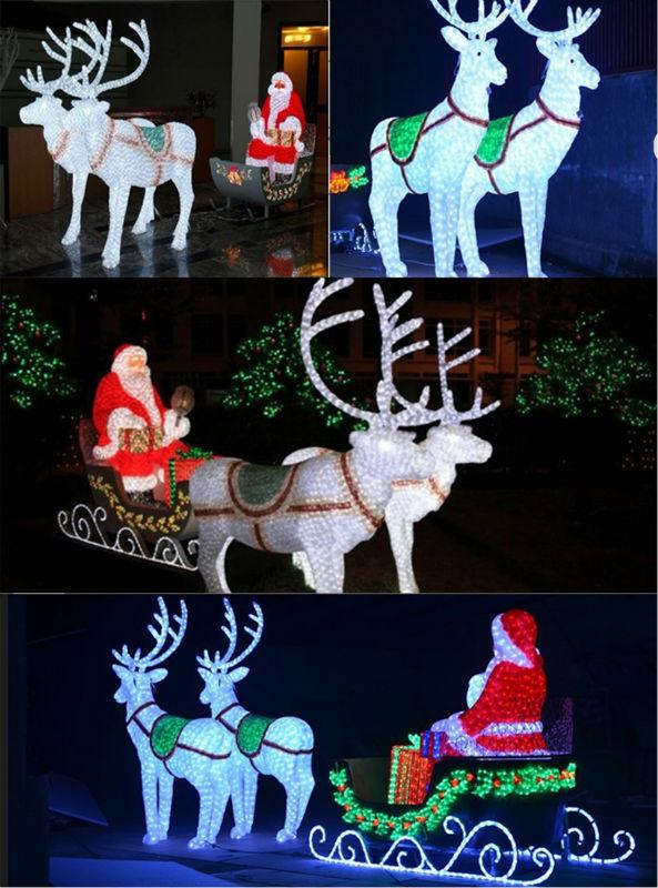 Outdoor 3d Rendierslee Kerst Decoratie Led Met Led Verlichting - Buy ...