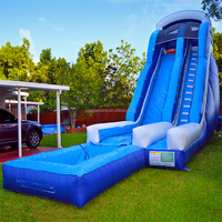 Wholesale prices outdoor large inflatable water dry slide for adult and kids Hight quality