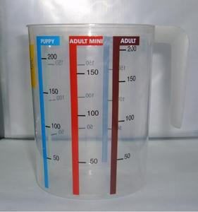 500ml PP plastic measuring cup printed colorful scale