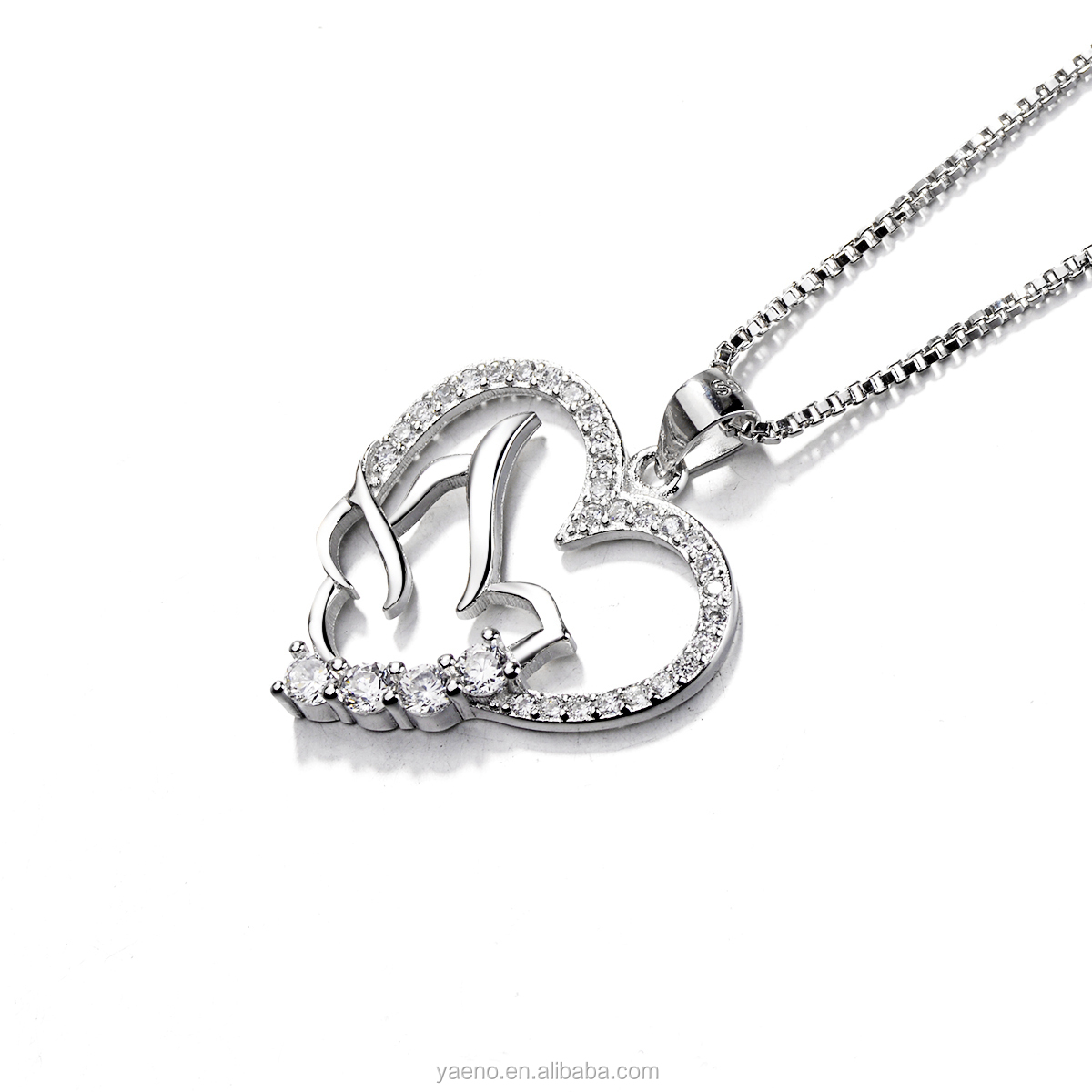 Real 925 Sterling Silver Jewelry Love Heart Pendant