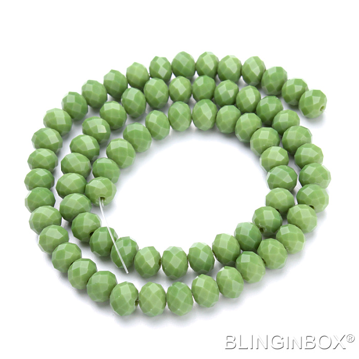 Over 100 colors good quality 1 strand glass rondelle beads with different size for choose
