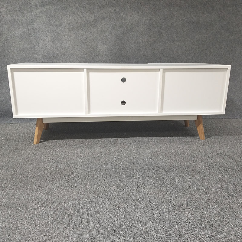 Modern design cheap white wooden tv cabinet desk tv stand with drawer for living room Furniture