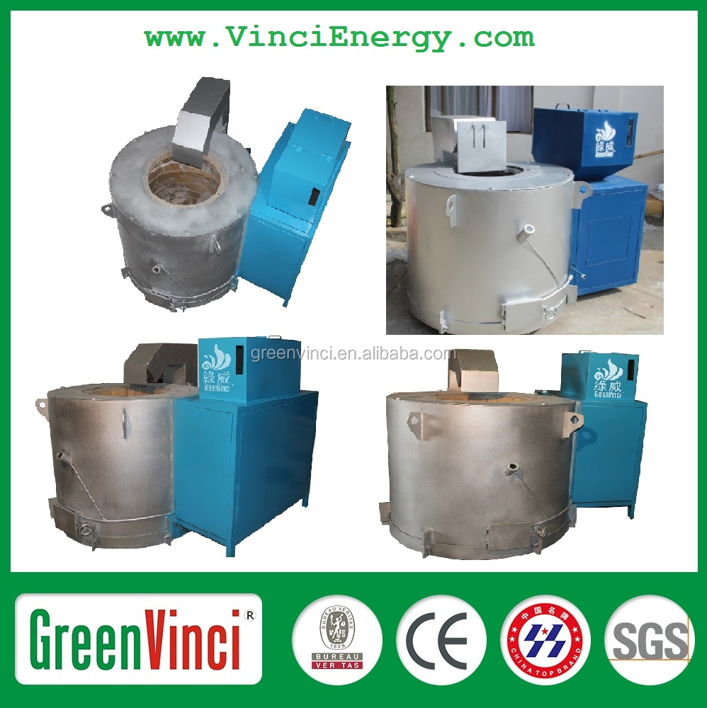 High Performance Biomass Melting Furnace For Alumium, Iron,Steel, Copper Thermocouple
