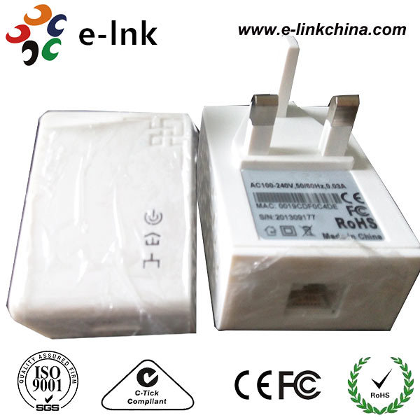 200mbps Plc Powerline Adapter Wall Mount Ethernet Atheros