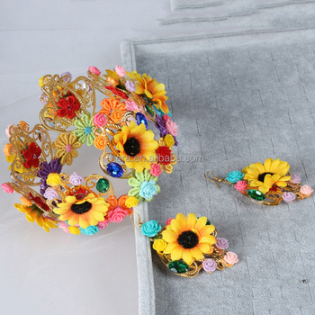 2017 Diy Flower Wreath Crown As Wholesale Craft Supplies - Buy Fashion Arts  And Crafts Flower Crown For Wholesale,2017 Diy Flower Wreath Crown As