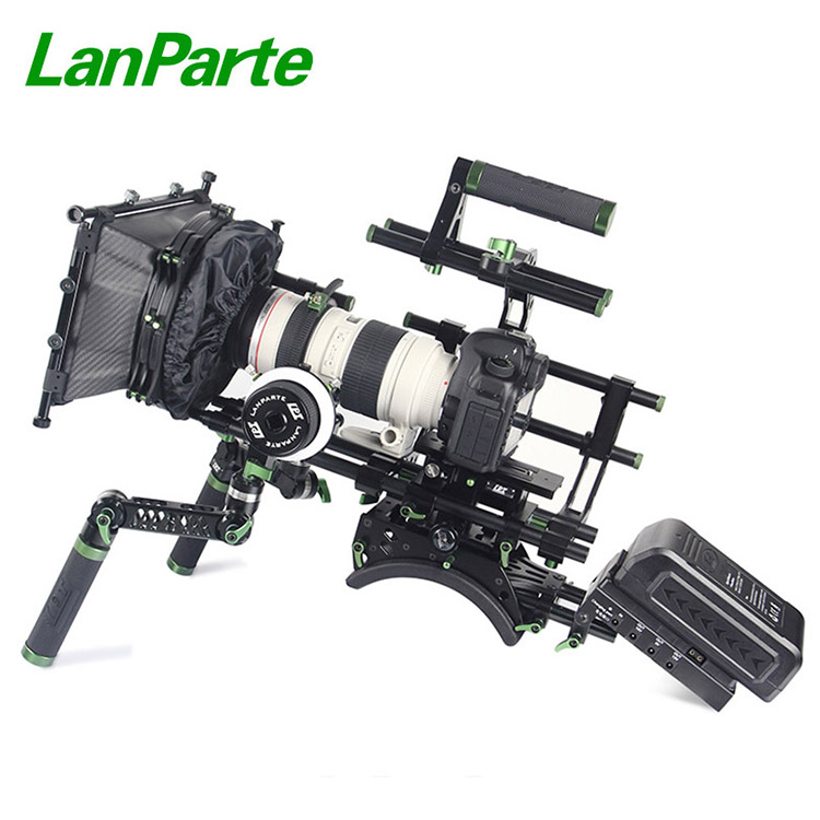 Lanparte universele 15mm studio camera complete kit met matebox en follow focus voor Canon 5DIV 5 DIII 5DII
