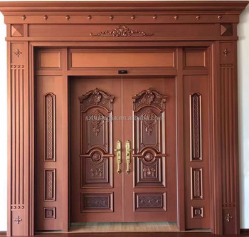 2017 new design double panel entry door security stainless for New latest door design