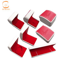 Wholesale faux leather jewelry box velvet lining gift jewelry box