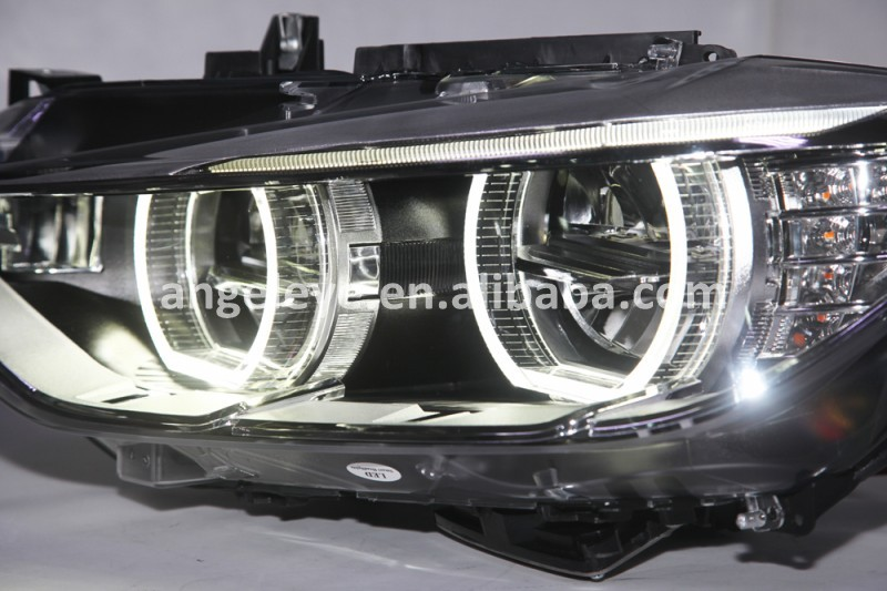 For Bmw F30 F35 318 320 325 328 330 335 Head Lamp Angel Eyes ...