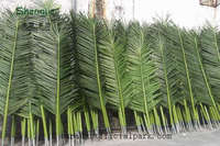 Outdoor plastic branches garden decorative foliage artificial date palm tree leaves products