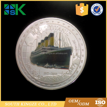 2012 Tuvalu 100th Anniversary of RMS TITANIC White Star Line Silver Plated Coin