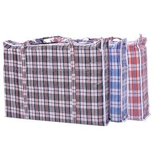 cdd473150c Plaid moving bag plastic thick waterproof large duffel bag portable storage  PP woven bag