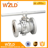 WZLD OEM Quality Two Piece PTFE Seal 2Inch,4Inch,6Inch Medium Pressure Floating Ball Valve