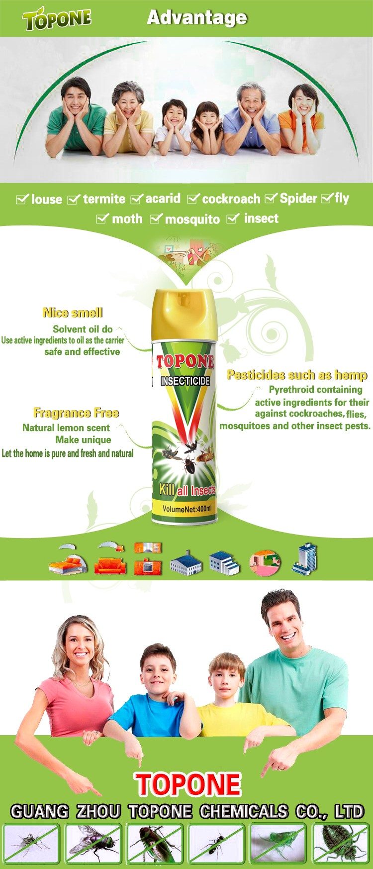 Manufacture Supplier Mosquito Repellent Chemical Spray