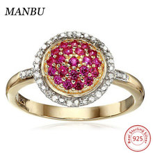 18k Yellow Gold Over Sterling Silver Ruby Ring