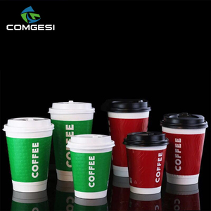 healthy green 12oz coffee cups paper free leaking logo design pe pla coating high grade eco friendly take away for wholesale