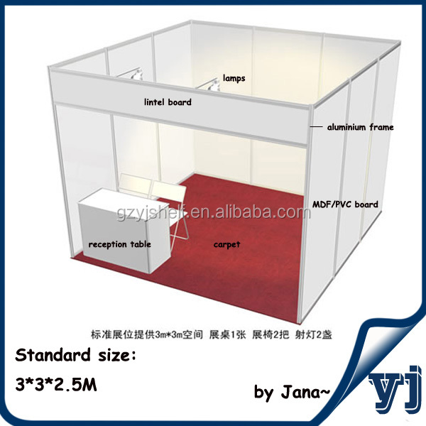Exhibition Booth Standard Size : Oem odm standard shell clad exhibition stand m