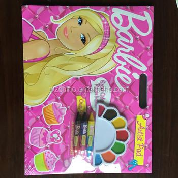 2015 Yeni Tasarım çocuklar Boyama Kitabı Kolu Etiket Sayfası