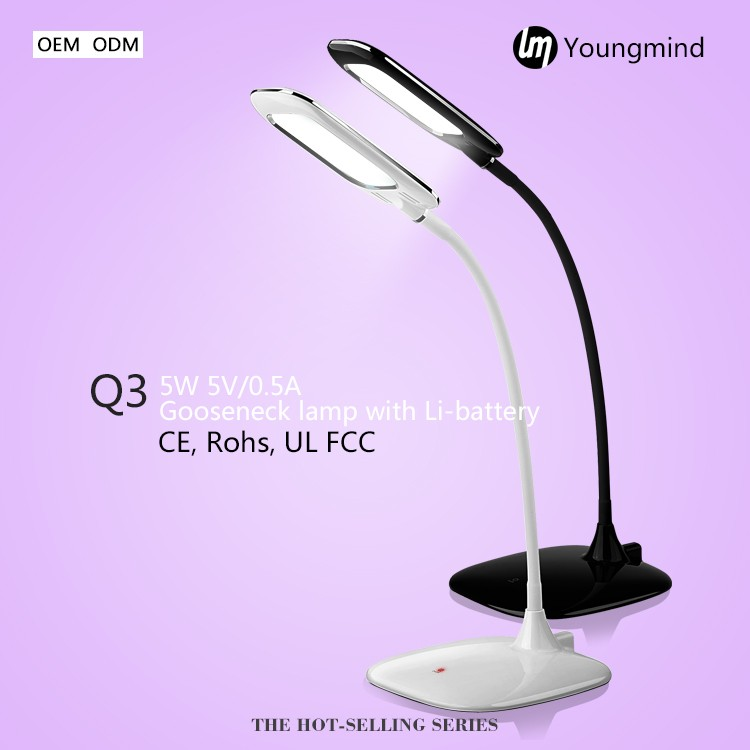 Ceramic surface effect ultra thin table lamp foldable LED desk lamp