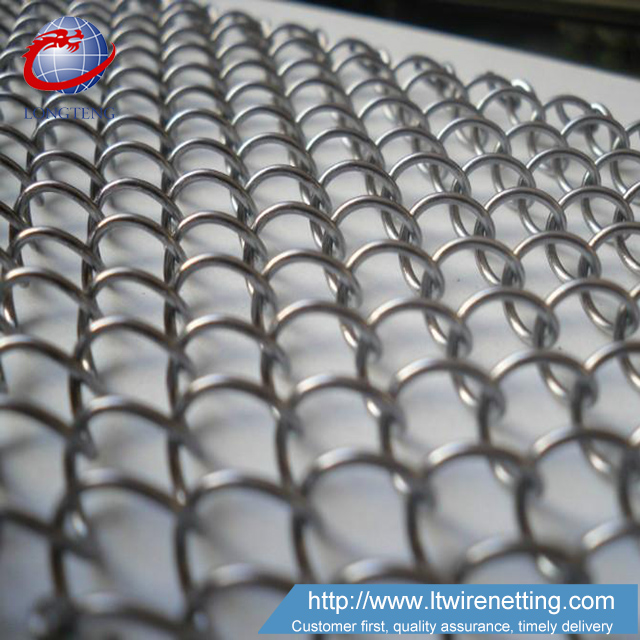 Competitive price Interior silver metal coil drapery for screen