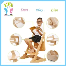 Adjustable solid wood free baby High chair kids feeding Chair