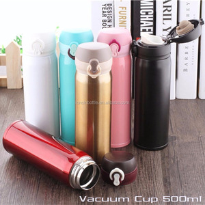 Vacuum Cup Flask with tea strainer ,Stainless Steel Coffee Bottle Thermos 500 ml travel mug,insulated water bottle mug