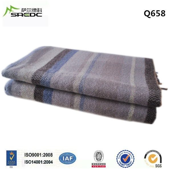 King size 100% New Zealand Wool Blanket with fringes