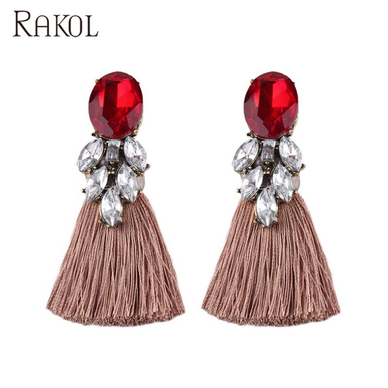 Women Boho Drop Dangle Fringe Earring Vintage Ethnic Statement Tassel Earring CN