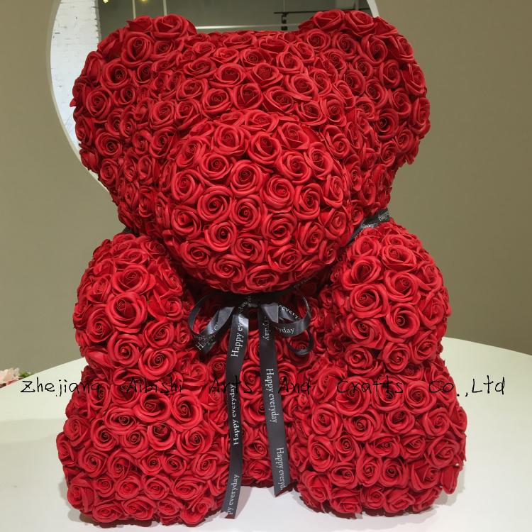 handmade soap flower teddy bear shape cheap wholesale