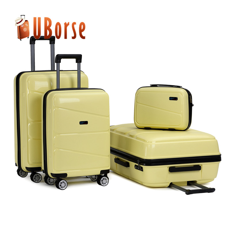 Travel Luggage Case Polypropylene Plastic Suitcase Trolley PP Cabin Case