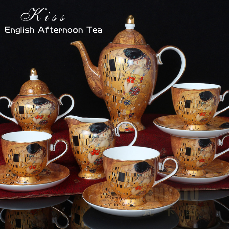 European Style High Cl Bone China Coffee Set Ceramic Cup And Saucer Tea