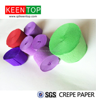 color crepe paper streamer for party(apple agreen)