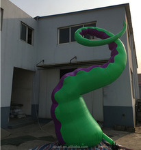 Selling custom inflatable writhing green tentacles, inflatable tentacle octopus