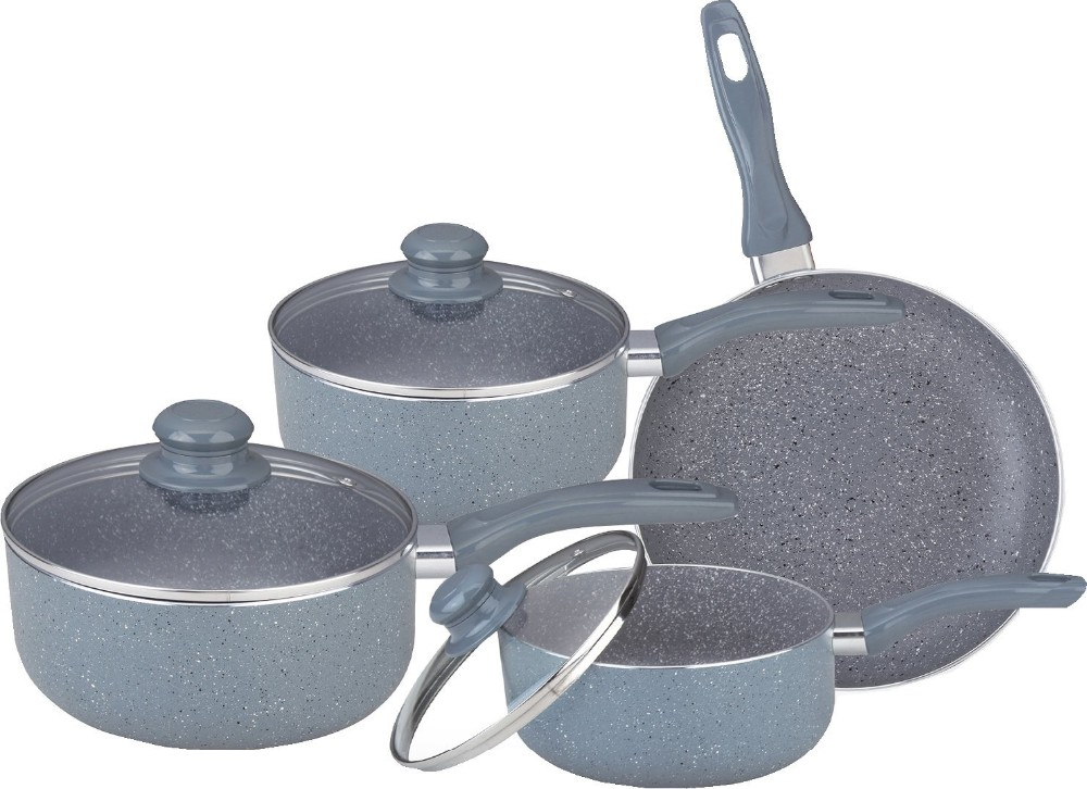Good Price 7pcs Soft Touch Marble Coating Pots And Pans