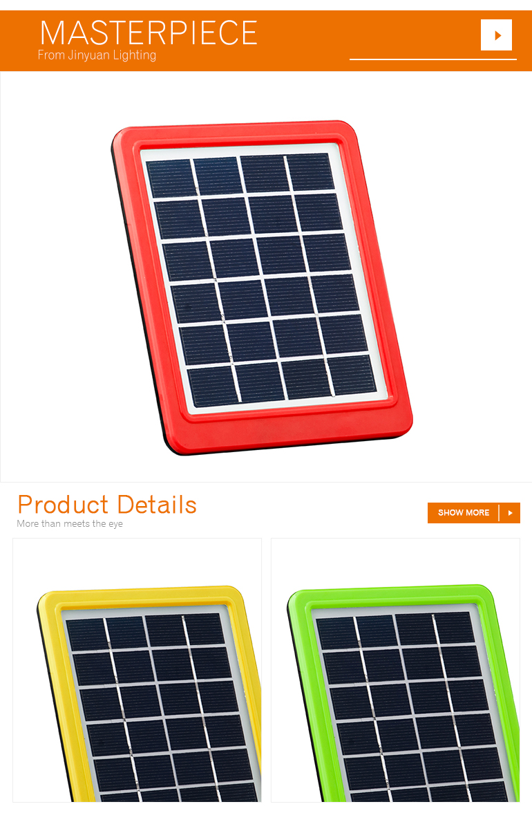 2w sunpal charger solar panel small for small home appliances