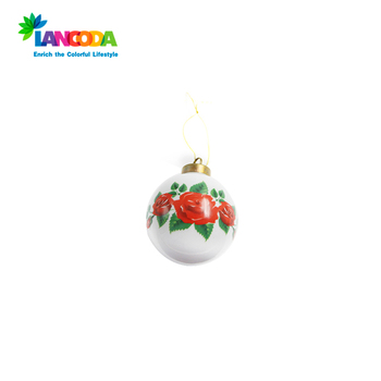 Sublimation White Snow Ball Ornament With Metal Insert Buy