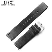 1 шт., ремешок для часов 20 мм, черный, коричневый, кожаный ремешок для часов, мужские и женские часы с кожаным ремешком(China)