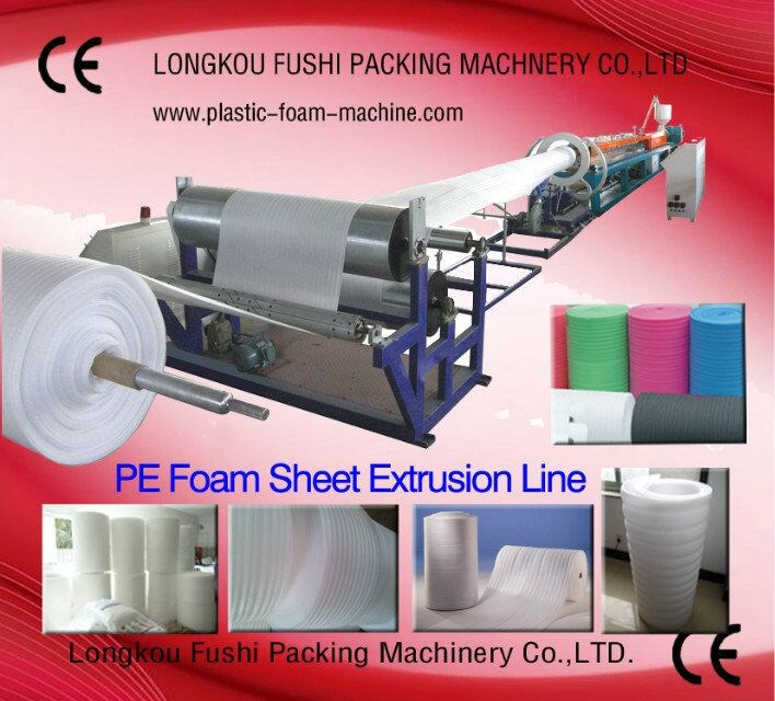 HOT SALABLE CE APPROVED POLYETHYLENE FOAM SHEET EXTRUDING EQUIPMENT
